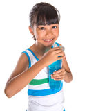 Young Girl With Water Bottle VII Royalty Free Stock Images
