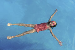 Young Girl Water Flying Stock Photo