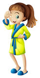 A young girl wearing a bathrobe Royalty Free Stock Photo