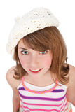 Young girl wearing a cap Stock Image