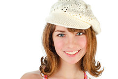Young girl wearing a cap Stock Images