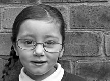 Young girl wearing glasses Royalty Free Stock Photography