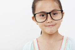 Young girl wearing glasses Royalty Free Stock Image
