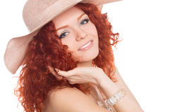 Young girl wearing a hat. Royalty Free Stock Photography