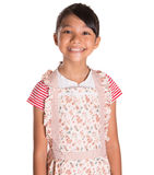 Young Girl Wearing Kitchen Apron II Royalty Free Stock Photography