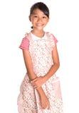 Young Girl Wearing Kitchen Apron III Stock Photos
