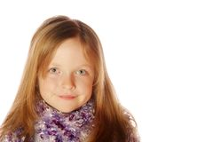 Young girl wearing scarf Stock Photos