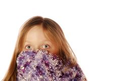 Young girl wearing scarf Royalty Free Stock Images