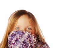 Young girl wearing scarf Stock Images