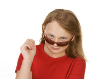 Young girl wearing sunglasses Royalty Free Stock Photo