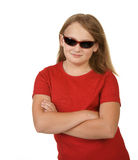 Young girl wearing sunglasses Stock Photo