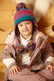 Young Girl Wearing Warm Outdoor Clothes Stock Photo