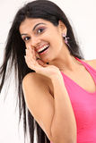 Young girl in a whispering expression Stock Photos
