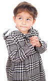 Young girl on white background Royalty Free Stock Photo