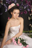 Young girl in a white dress Royalty Free Stock Images
