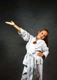 Young girl in a white kimono Royalty Free Stock Photo