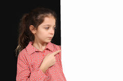 Young girl with whiteboard Royalty Free Stock Photo