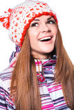 Young girl in winter clothes Royalty Free Stock Photo