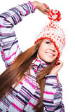 Young girl in winter clothes Stock Image