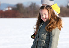 Young girl in winter park Stock Image
