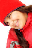 Young girl in winterwear Stock Images