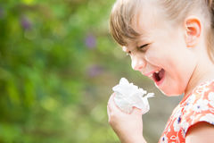 Free Young Girl With Hayfever Sneezing In Garden Royalty Free Stock Photo - 76844105
