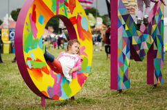 Young girl at Womad Festival Stock Photography