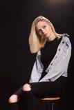 Young girl woman fashion model posing Stock Photos