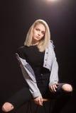 Young girl woman fashion model posing Stock Photo