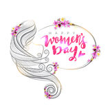 Young girl for Women's Day celebration. Royalty Free Stock Image