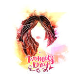 Young girl for Women's Day celebration. Royalty Free Stock Photo