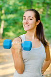 Young girl workout Stock Photo