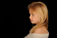 Young girl wrapped in towel Stock Images