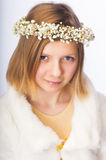 Young girl in a wreath Royalty Free Stock Images