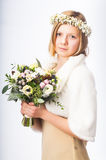 Young girl in a wreath Royalty Free Stock Image