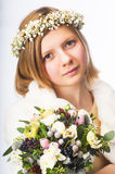 Young girl in a wreath Royalty Free Stock Photography