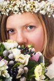 Young girl in a wreath Stock Image