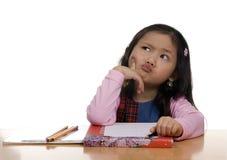 Young Girl Writing 5 stock photography