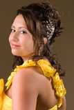 Young Girl In Yellow Dress Royalty Free Stock Photo