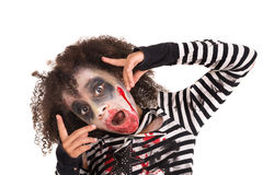 Young girl Zombie in Halloween Royalty Free Stock Image