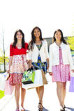 Young girlfriends shopping Royalty Free Stock Photos