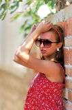 Young girlin glasses Stock Photography