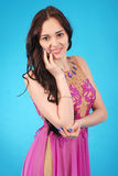 Young girln in evening dress Stock Photo