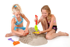 Young girls in beach wear Royalty Free Stock Photos