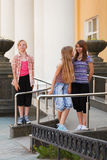 Young girls in a campus Stock Image