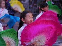 Young girl at the  Chinese Parade 2018 San Francisco Royalty Free Stock Photography