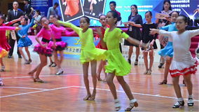 Young girls dancing with music stock video footage