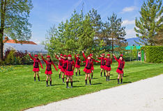 Young girls dancing Stock Images