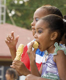 Young Girls Enjoying Carnival. Royalty Free Stock Photography