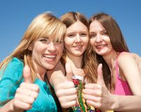 Young girls express positivity Stock Photography